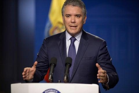El Presidente Duque se dirige al Grupo de Lima sobre el tema venezolano