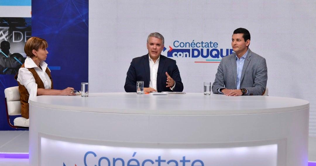 """""""La protesta social pacífica es un derecho de los colombianos y es un deber  del Estado"""", Duque"""