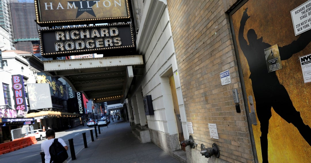 Broadway theaters in New York will remain closed until the end of May 2021