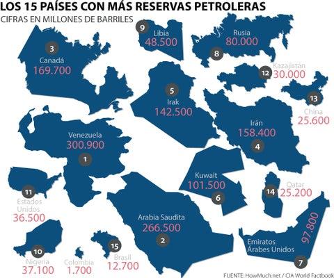 Los que tienen más petróleo en el mundo
