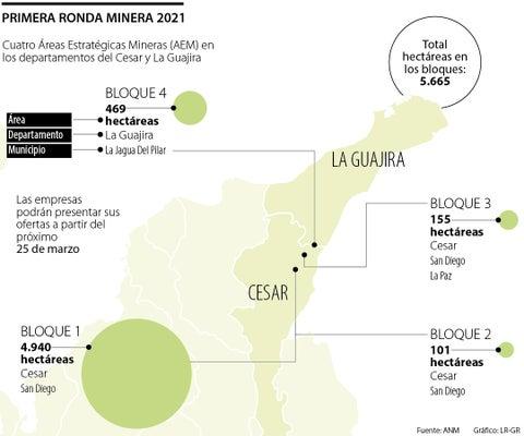 Los cuatro bloques de la primera Ronda Minera de este año suman 5.665 hectáreas