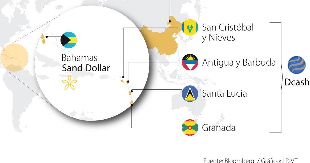 Seis países en el mundo ya cuentan con monedas digitales de sus bancos centrales