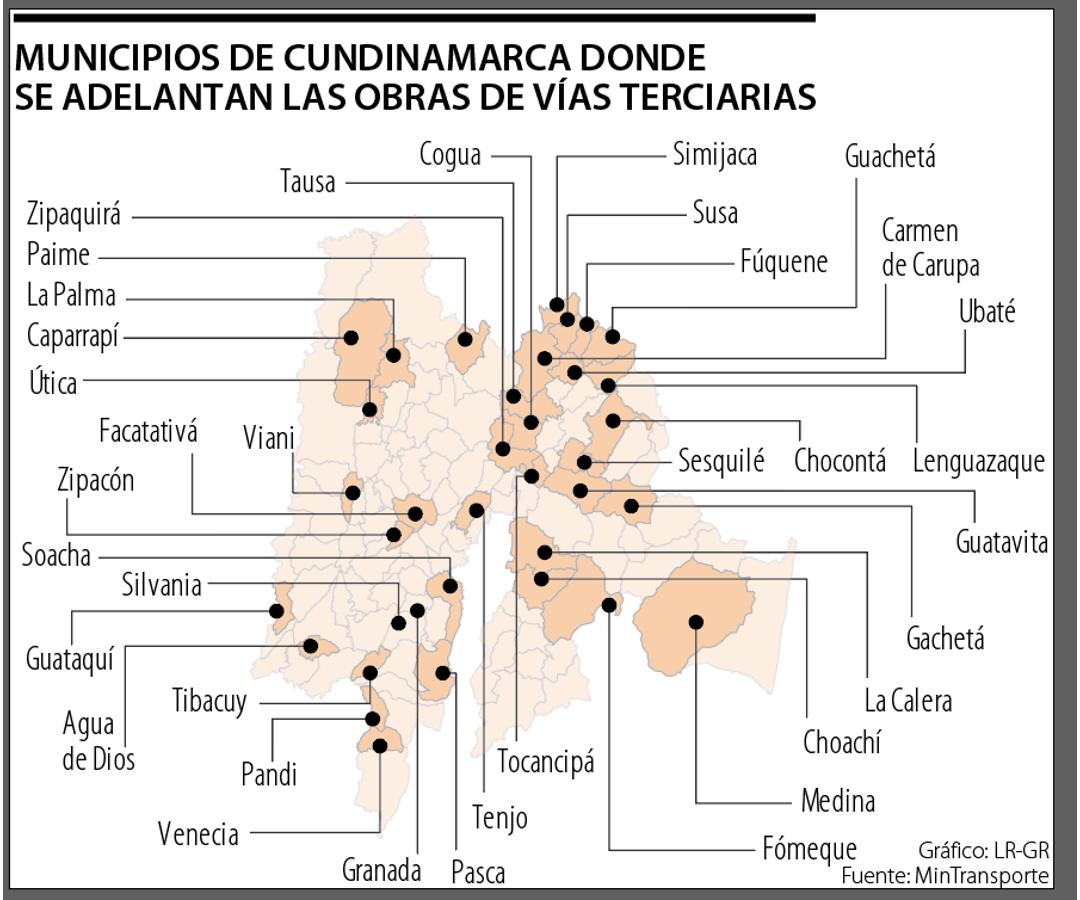Invías adelanta en Cundinamarca cerca de 50 obras de infraestructura de vías terciarias - Noticias de Colombia